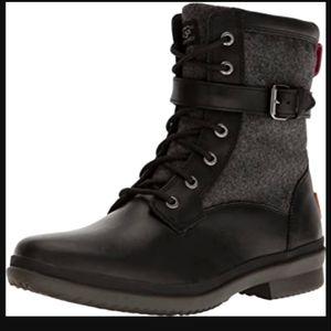 Ugg black/gray kesey waterproof boots. 10